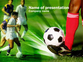 Sports: Soccer Kicking PowerPoint Template #00805