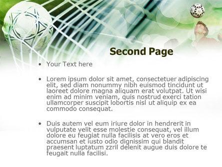 Soccer Goal PowerPoint Template, Slide 2, 00806, Sports — PoweredTemplate.com