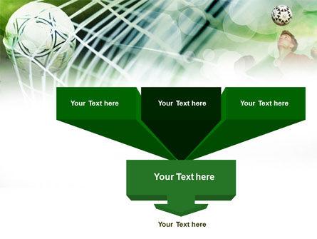 Soccer Goal PowerPoint Template, Slide 3, 00806, Sports — PoweredTemplate.com