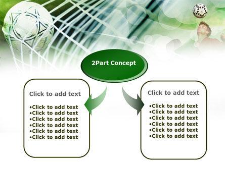 Soccer Goal PowerPoint Template, Slide 4, 00806, Sports — PoweredTemplate.com