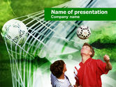 Sports: Soccer Goal PowerPoint Template #00806