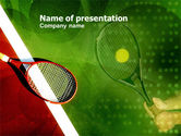 Sports: Tennis Rackets PowerPoint Template #00807