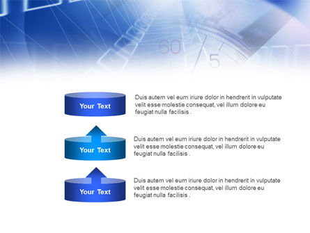 Blue Timer Theme PowerPoint Template Slide 10