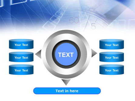 Blue Timer Theme PowerPoint Template Slide 12