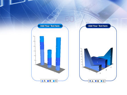 Blue Timer Theme PowerPoint Template Slide 13