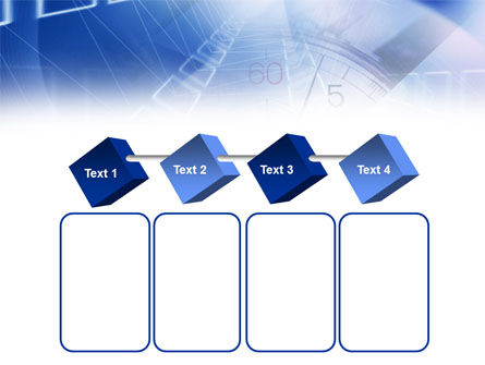 Blue Timer Theme PowerPoint Template Slide 18