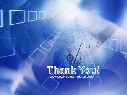 Blue Timer Theme PowerPoint Template Slide 20