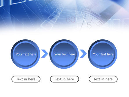 Blue Timer Theme PowerPoint Template Slide 5