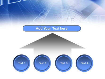 Blue Timer Theme PowerPoint Template Slide 8