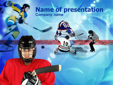 Sports: Hockey Game PowerPoint Template #00810