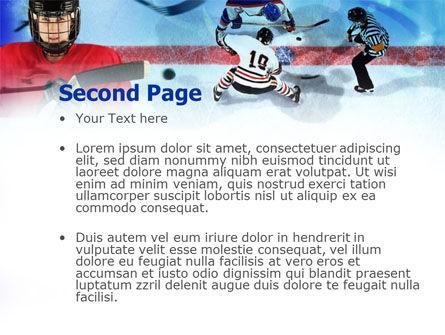 Hockey Game PowerPoint Template, Slide 2, 00810, Sports — PoweredTemplate.com