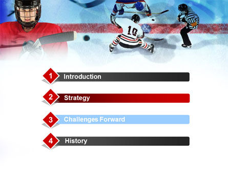 Hockey Game PowerPoint Template, Slide 3, 00810, Sports — PoweredTemplate.com