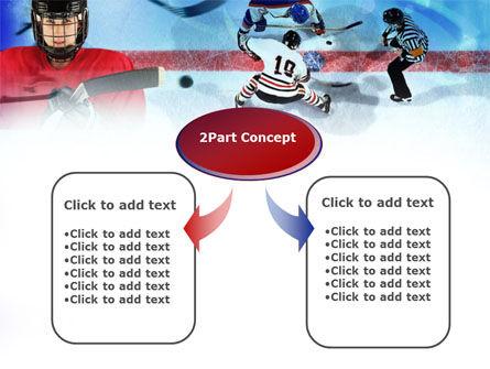 Hockey Game PowerPoint Template, Slide 4, 00810, Sports — PoweredTemplate.com