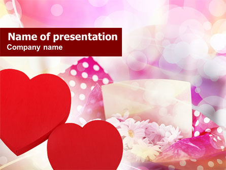 Love Gifts PowerPoint Template, 00811, Holiday/Special Occasion — PoweredTemplate.com
