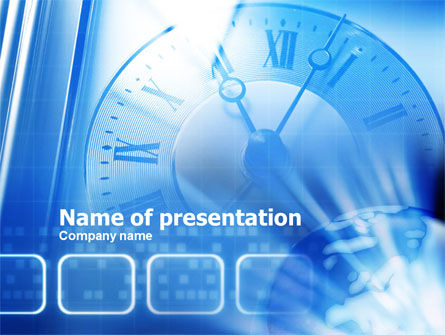 Global: Plantilla de PowerPoint - reloj de pared #00813