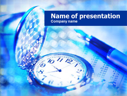 Pocket Watch PowerPoint Template, 00814, Business — PoweredTemplate.com