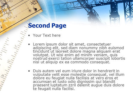 Urban Construction PowerPoint Template, Slide 2, 00815, Careers/Industry — PoweredTemplate.com