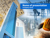 Careers/Industry: Modèle PowerPoint de construction urbaine #00815