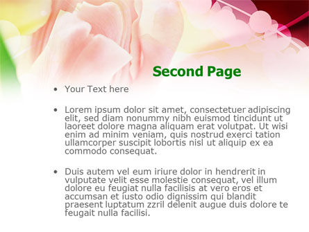 Light Pink Tulip PowerPoint Template Slide 2