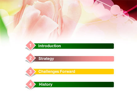 Light Pink Tulip PowerPoint Template, Slide 3, 00817, Holiday/Special Occasion — PoweredTemplate.com