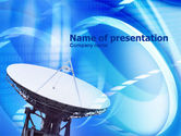 Telecommunication: Parabolic Antenna PowerPoint Template #00819