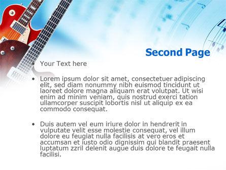 Playing Guitars PowerPoint Template, Slide 2, 00820, Art & Entertainment — PoweredTemplate.com