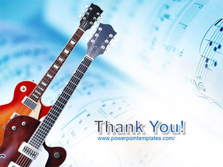 Playing Guitars PowerPoint Template Slide 20