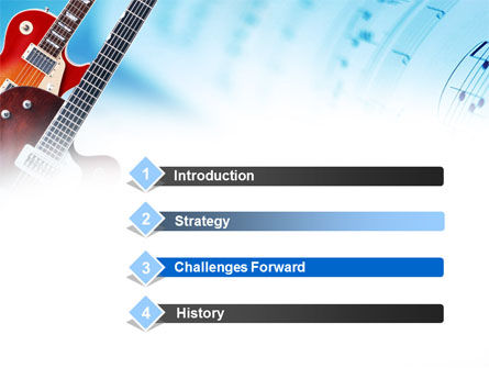 Playing Guitars PowerPoint Template Slide 3