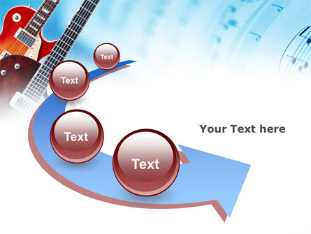 Playing Guitars PowerPoint Template Slide 6