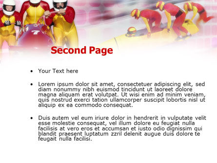 Bobsleigh PowerPoint Template, Slide 2, 00821, Sports — PoweredTemplate.com