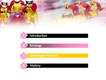 Bobsleigh PowerPoint Template Slide 3