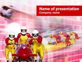 Sports: Bobsleigh PowerPoint Template #00821