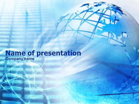 Wired Model Of Globe PowerPoint Template