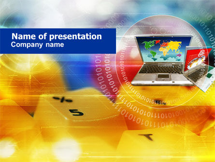 Technology and Science: Modern Computing Environment PowerPoint Template #00823