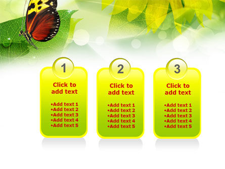Butterfly On The Leaf PowerPoint Template Slide 16