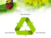Butterfly On The Leaf PowerPoint Template#10