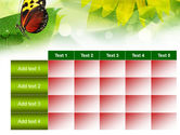 Butterfly On The Leaf PowerPoint Template#15