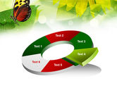 Butterfly On The Leaf PowerPoint Template#19