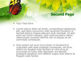 Butterfly On The Leaf PowerPoint Template#2