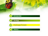 Butterfly On The Leaf PowerPoint Template#3