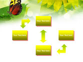 Butterfly On The Leaf PowerPoint Template#4