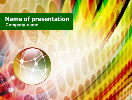 Abstract/Textures: Magic Ball of Today PowerPoint Template #00825