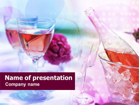 Pink Wine PowerPoint Template, 00828, Food & Beverage — PoweredTemplate.com