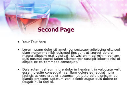 Pink Wine PowerPoint Template, Slide 2, 00828, Food & Beverage — PoweredTemplate.com