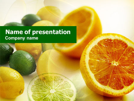 Food & Beverage: Templat PowerPoint Jeruk Lemon #00829
