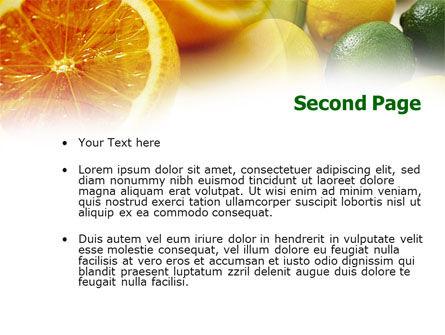 Lemons PowerPoint Template, Slide 2, 00829, Food & Beverage — PoweredTemplate.com