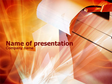 Copier PowerPoint Template, 00830, Education & Training — PoweredTemplate.com