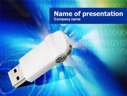 Flash Drive PowerPoint Template, 00831, Technology and Science — PoweredTemplate.com