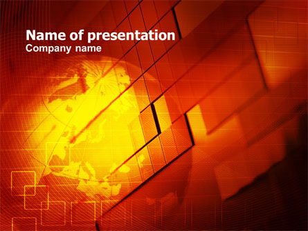 Global: Red Mondiale Thema PowerPoint Template #00832