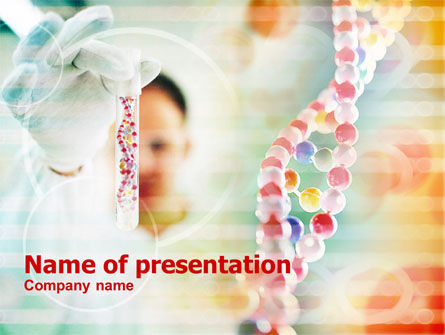 DNA Test PowerPoint Template, 00833, Medical — PoweredTemplate.com